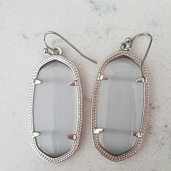 e0632ff99 Kendra Scott Jewelry - Kendra Scott Elle Earrings in Slate Gray & Silver